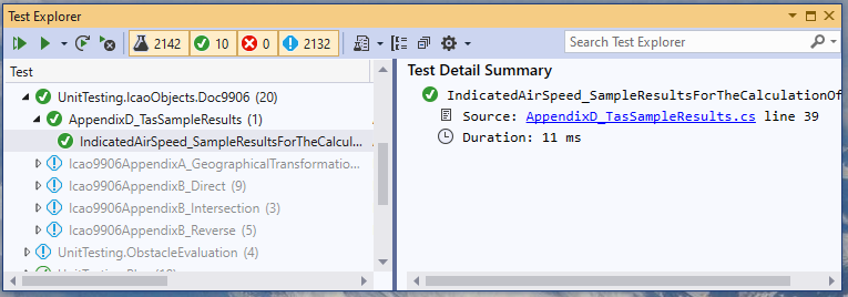 Microsoft Visual Studio Test Explorer