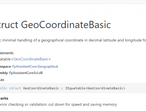 API: GeoCoordinateBasic Object (Struct)